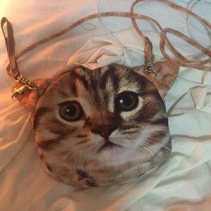 Handbags - Cat face purse!